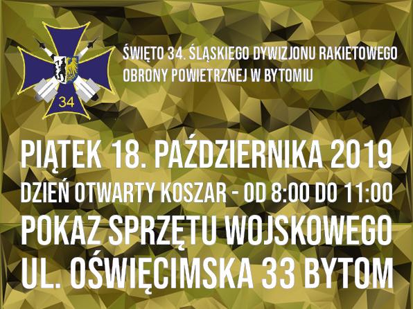 Święto 34. Śląskiego Dywizjonu Rakietowego OP w Bytomiu